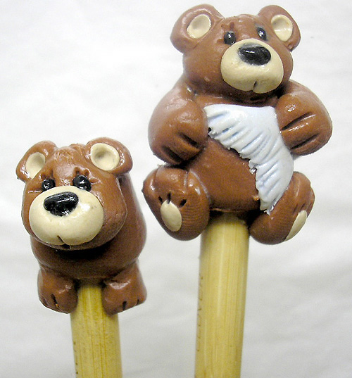 *BROWN BEARS* on bamboo knitting needles