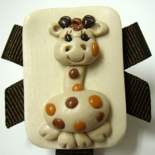 *GIRAFFE* chocolate brown ribbon