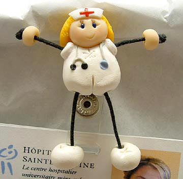 *NURSE #3* badge clip for ID cards