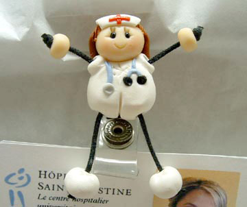 *NURSE #1* badge clip for ID cards