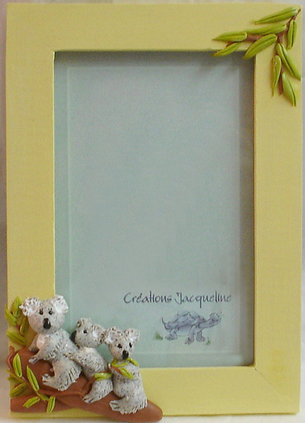 *KOALAS* on 4X6 yellow picture frame