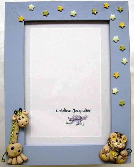 *SAFARI* on 4X6 steel-blue picture frame