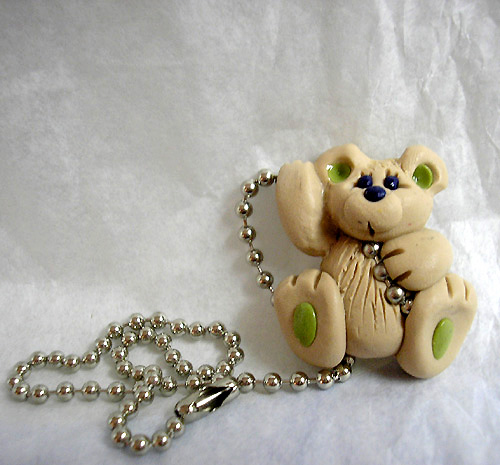 *BEIGE BEAR* ceiling fan pull