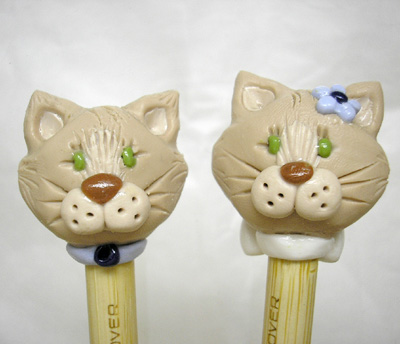 *Mr. & Mrs. CATS* bamboo knitting needles