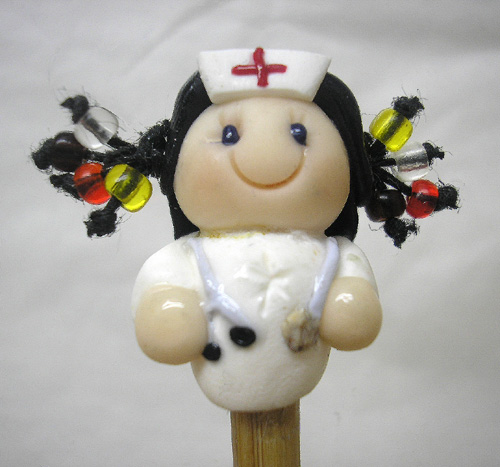 *NURSE* on bamboo crochet hook