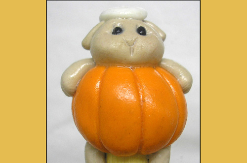 *PUMPKIN' SHEEP* on bamboo crochet hook