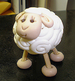 *WHITE SHEEP* figurine