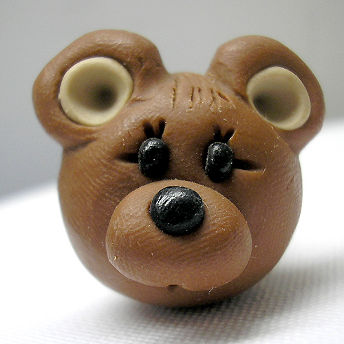 *BEAR* decorative closet knob/drawer (round)