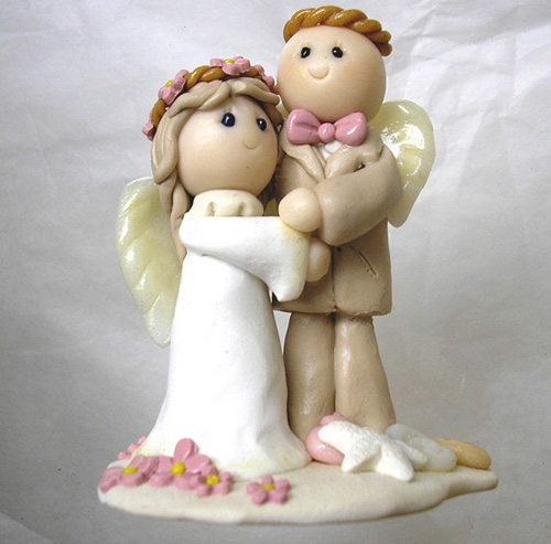 *ANGELS COUPLE* Wedding cake toppers